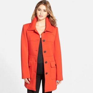 VINCE CAMUTO Single Breasted Ponte Knit Coat